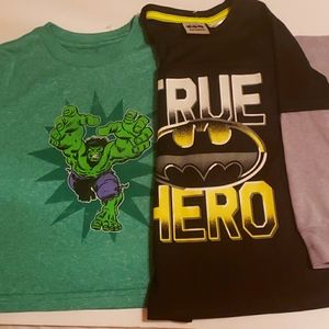 2 Batman and Incredible Hulk shirts 👕
